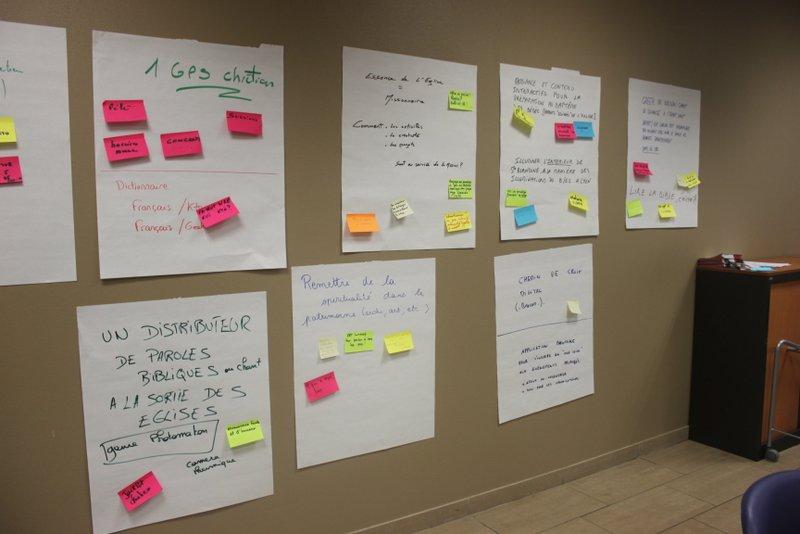 Brainstorming sur les sujets d'Hack My church